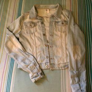 H&M light wash denim jacket